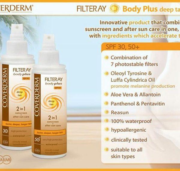 Coverderm Filteray Body Plus Deep Tan Spray Advert
