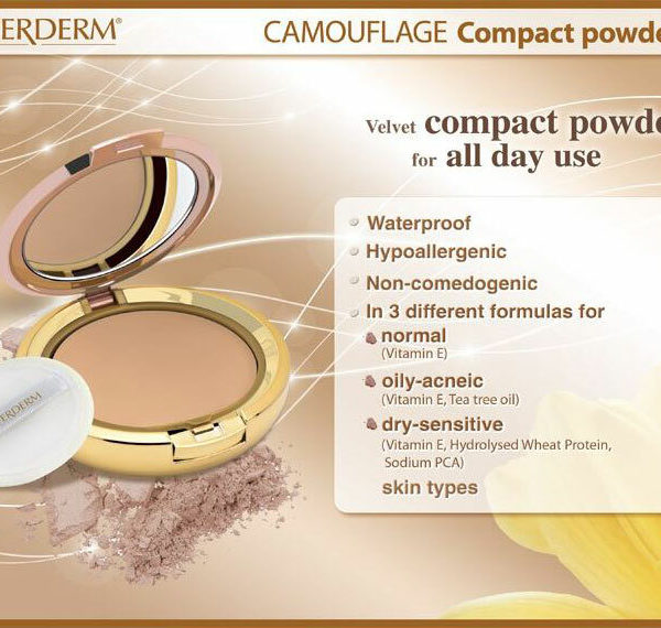 Coverderm Camouflage Compact Powder Info