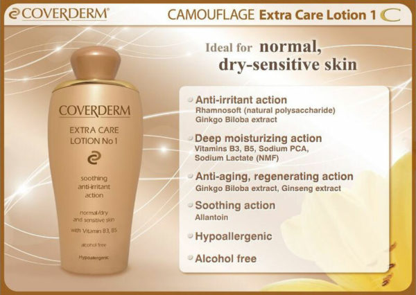 Coverderm Camouflage Extra Care Lotion No 1 Info
