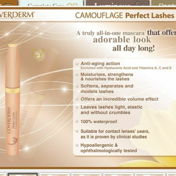 Coverderm Camouflage Perfect Lashes Waterproof Mascara Info