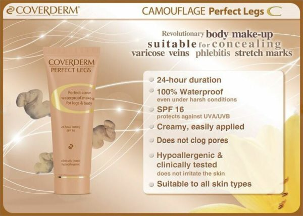 Coverderm Camouflage Perfect Legs Info