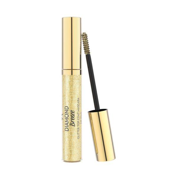 Golden Rose Diamond Breeze Glitter Top coat Mascara 24k gold