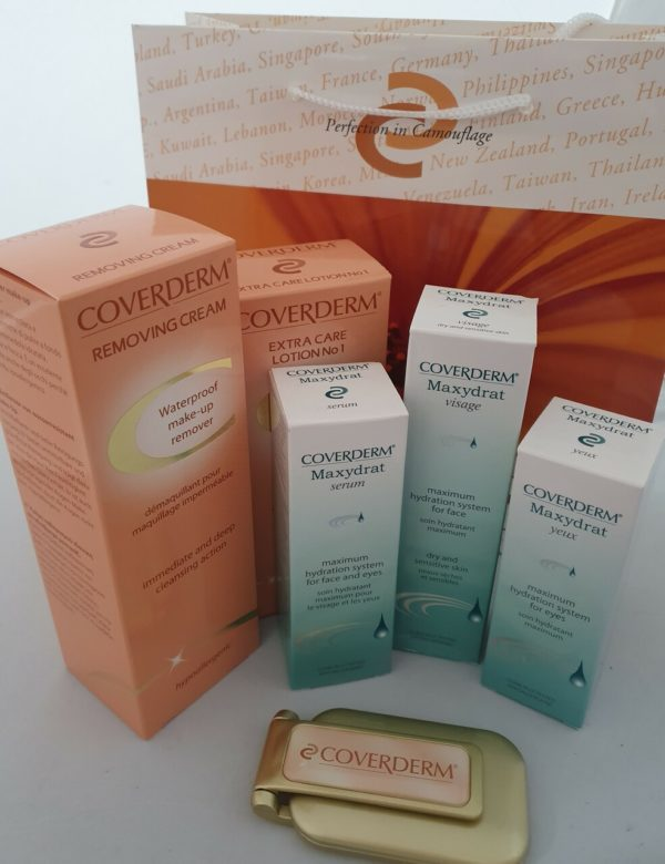 Coverderm Maxydrat skin care kit - for dehydrated dry sensitive skin