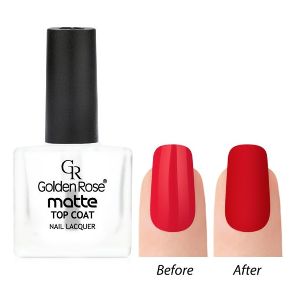 Matte Look Top coat changes normal nail lacquer to a matte finish