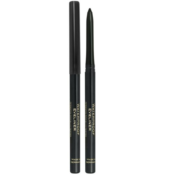 A waterproof retractable eyeliner (no need to sharpen) with a smooth formula for long lasting make up