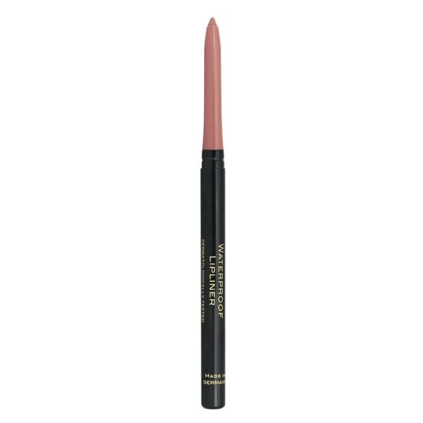 A waterproof retractable lip pencil (no need to sharpen) with a smooth formula for long lasting make up
