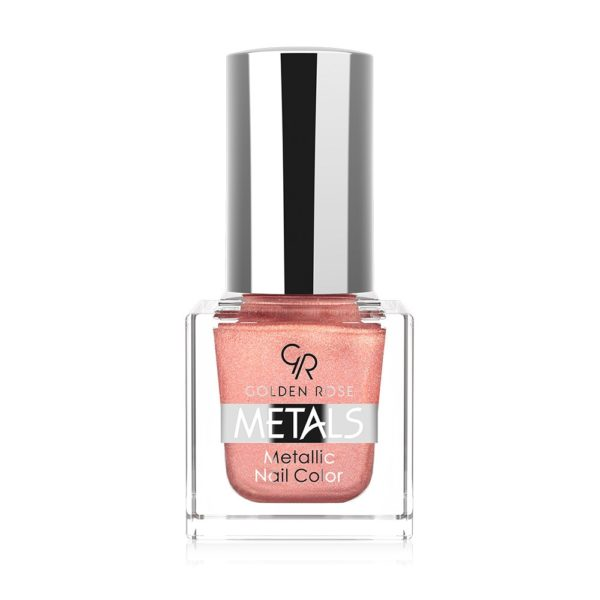 Metallic Nail Lacquer containing highly metallic fine pigments and pearls that give long wearing shine metallic finish