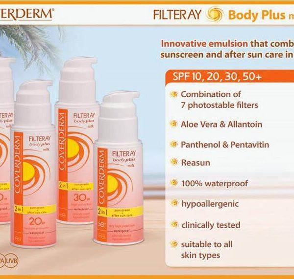 Coverderm Filteray Body Plus Milk Advert