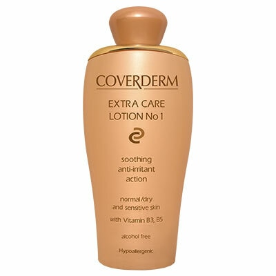 Coverderm Camouflage Extra Care Lotion No 1 soothes, calms and moisturizes the skin, leaving a wonderful feeling of freshness and softness. Ideal for sensitive skin due to its anti-irritant action. With Ginkgo Bilboa and Ginseng herbal extractsAlcohol free Hypoallergenic For Normal and Dry Skin only Vitamins B3 and B5 Soothing anti-irritant action