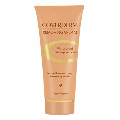 Coverderm Removing Cream offers an immediate thorough cleansing action, maintaining your skin moisture and gives a fresh glow. Cleanser for face and eyesWaterproof Make-up Remover Immediate and Deep cleansing action Hypoallergenic