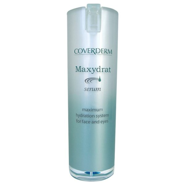 """Coverderm Maxydrat, thanks to its ultra-modern formula, based on the Nobel-winning Aquaporines discovery, mimics skin's mechanisms of moisturization. Cells throughout the epidermis """"flood"""" with water, instantly. It renders skin an unsurpassed feeling of freshness, relaxation, vitality and health. Concentrated formula for use on face, neck and eye area, for optimum results! Ophthalmologically tested"""