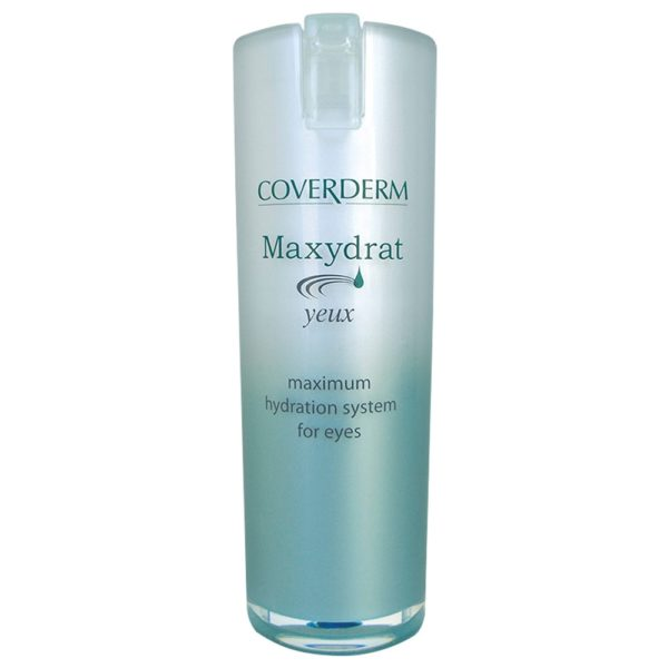 """Coverderm Maxydrat, thanks to its ultra-modern formula, based on the Nobel-winning Aquaporines discovery, mimics skin's mechanisms of moisturization. Cells throughout the epidermis """"flood"""" with water, instantly. It renders skin an unsurpassed feeling of freshness, relaxation, vitality and health. Concentrated formula for use on eye area, for optimum results! Ophthalmologically tested"""
