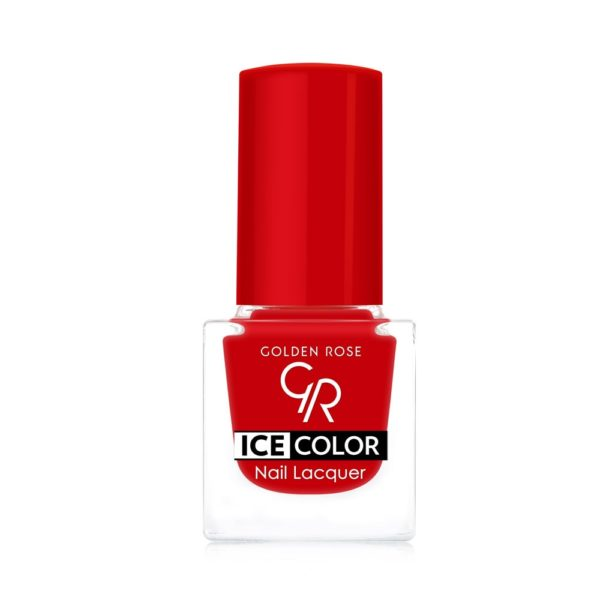 Ice Color Nail Lacquer delivers rich, glossy, long-wearing color and shine with a flat brush that ensures perfect coverage
