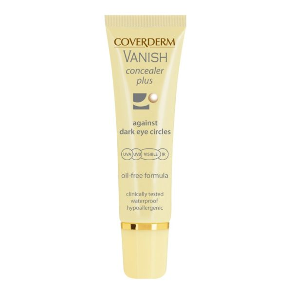 Vanish concealer plus spf 50+ enriched with the most powerful active ingredients, perfectly cover while fighting dark eye circles & bags and facial rednessoil freeExtremely long lastingWaterproofHypo allergenicSpf50+ & effective sun protection from UVA/UVB/IR/Blue light