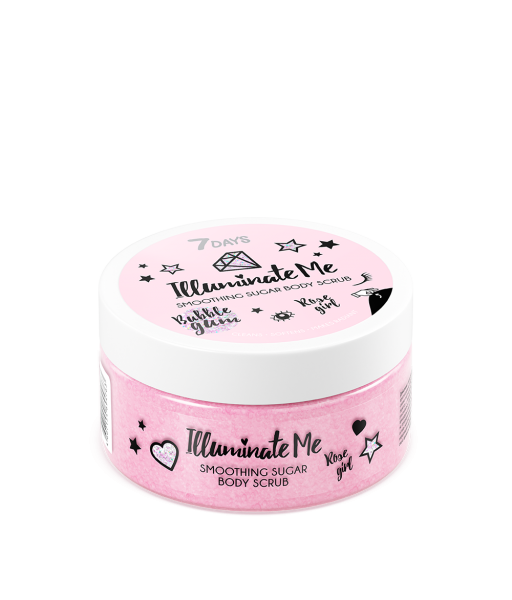 Apply a small amount of scrub to steamed skin and massage with an open hand or special massage glove for 5-10 minutes. Pay special attention to problem areas. After a gentle massage, leave it on your skin for a few more minutes so the active ingredients can take effect, then rinse it off with warm water. Finish your beauty ritual by moisturizing your skin with ILLUMINATE ME Shimmering Body Milk. It's time to shine!