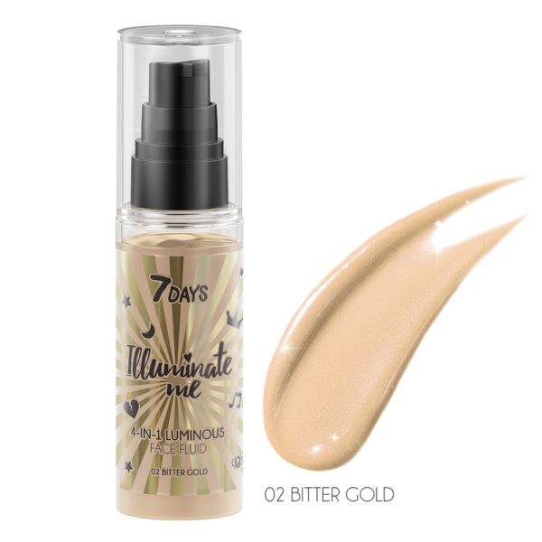 This illuminating face fluid is loaded with reflective beads combining the benefits of skincare and cosmetics into one product. The skin is deeply moisturized and saturated with useful substances without peeling and other imperfectionsWith Hydrolates Linden and Roses / Grape seed oil