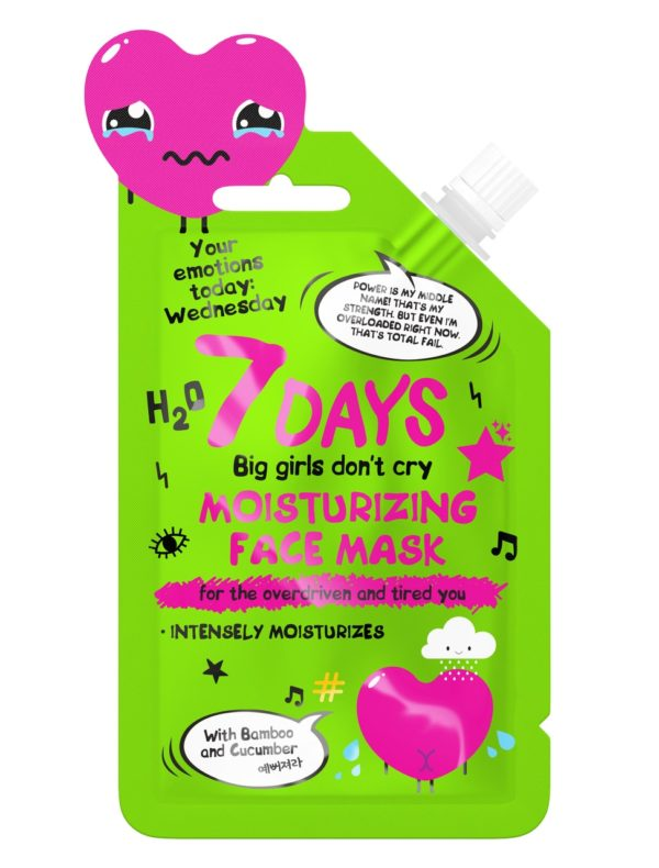 7DAYS Moisturizing Face Mask for overdriven and tired you