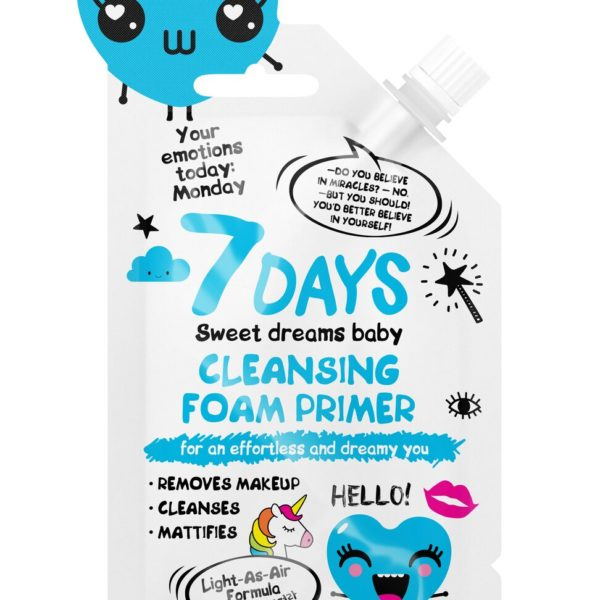 7DAYS Cleansing Foam Primer for effortless and dreamy you