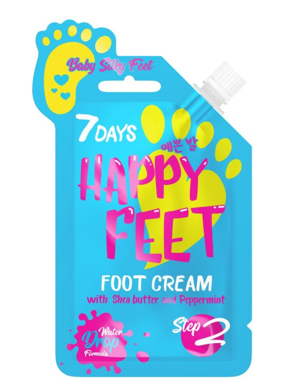 Foot cream BABY SILKY FEET Smooth and Soft skinA Water Drop formula nourishes and moisturizes your feet, making them smooth and soft like a baby's and giving them a pleasant Mint aromaShea butter & Peppermint