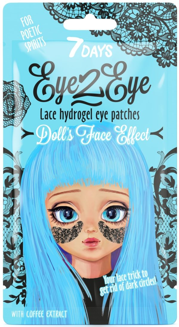 Lace hydrogel eye patches