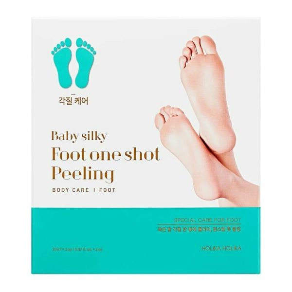 Seven day miracle! A simple one-step foot peeling pack for exfoliating dead skin cells on coarse and chapped feet. No more rough and hard skin on your feet! Revitalizing foot mask containing 16 kinds of plants extracts and AHA hastens skin's natural turnover process to peel off keratin, remove odor-causing bacteria and restore the feel of baby soft feet