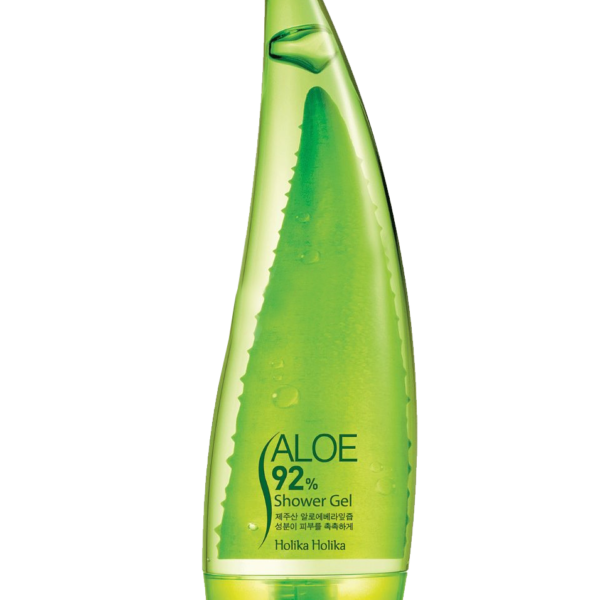 A natural Aloe Vera shower gelFormulated with 92& Aloe Vera leaf juice, the Holika Holika Aloe 92% Shower Gel cleans skin without stripping it of moisture. Containing Aloe Vera, Cucumber and Watermelon, this gel is super soothing and helps skin to retain moisture whilst being thoroughly cleansed. Stayed out in the sun a little too long? This shower gel will be your saviour but is great for skin all year round. Suitable for all skin types