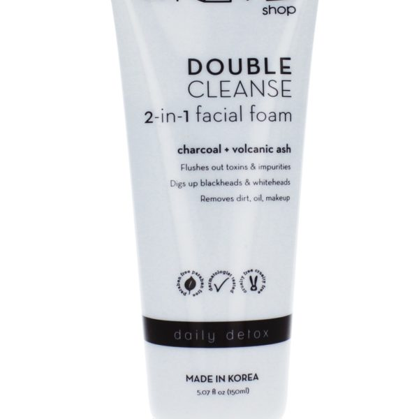 2 in 1 Facial Foam Cleanser | Charcoal + Volcanic Ash Daily Refresh & Detox