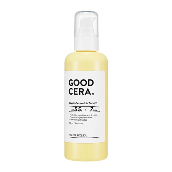 A moisturising tonerPerfect for dry and sensitive skin, Good Cera Super Ceramide Toner soothes, tones and nourishes the skin to remove cleansing agents, improve elasticity and form a healthy protective barrier against UV rays