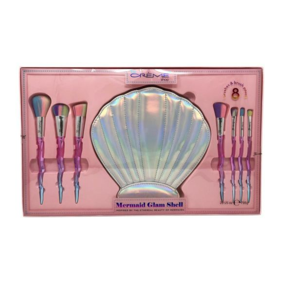 Inspired by the beauty of the seabed and the mythical mermaids, The Crème Shop brings us this beautiful case with seven 100% cruelty free brushes, perfect for all parts of the face, from eyeshadow to makeup base.Contains : 7 brushes and a case