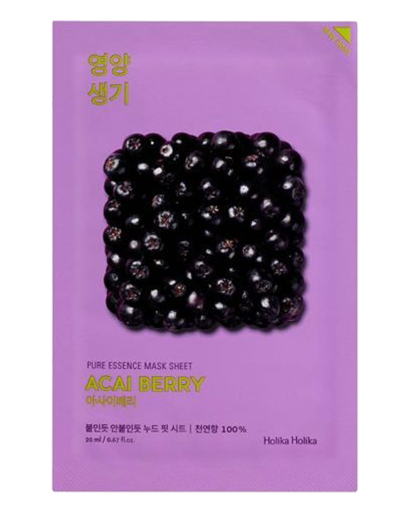Vitaminizing sheet mask with acai berries, softens the skin, due to the content of natural acids, acting as a gentle exfoliation. Mask returns the brightness to the skin and fulfills it with vitamins, moisturizes and gives it elasticity, and enhances the local immunity of the skin. The mask has an ultra thin basis that provides a tight contact with the skin and a better penetration of useful components in sheet mask