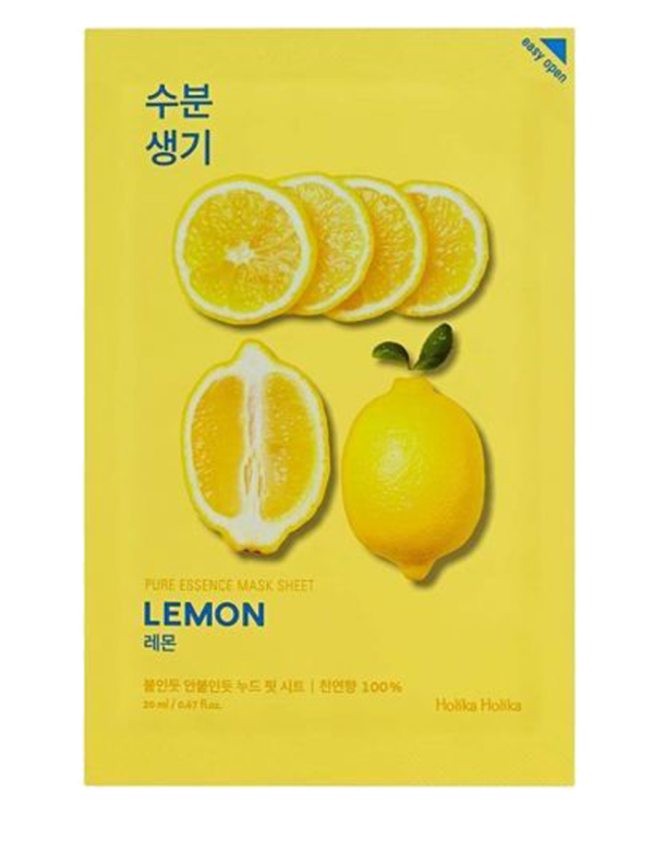 Sheet mask with lemon extract has a brightening and lightening effect, due to the content of vitamin C restores skin elasticity and brightness, charges it with vitamins. Mask softens skin and acts as a gentle exfoliation if used regularly. The mask has an ultra thin basis that provides a tight contact with the skin and a better penetration of useful components in sheet mask