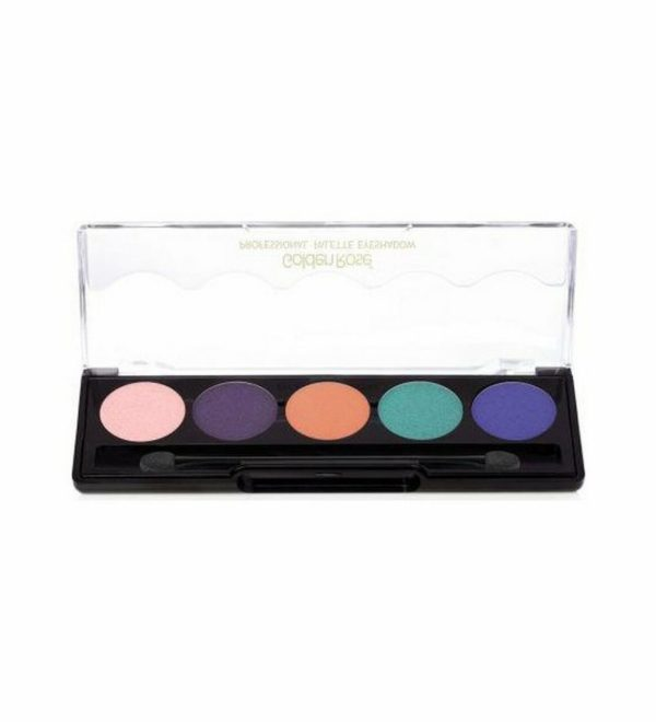 Eyeshadow palette with 5 fashionable and harmonious colours in each palette