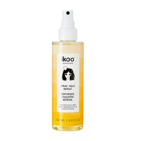 Heat Protection Spray without siliconeOur heat protection spray is loaded with 100% naturally derived polymer that helps shield the hair's cuticle from thermal damage and adds a soft, finishing touch. Bonus factor: It's lightweight, easy to wash, and helps hair dry faster