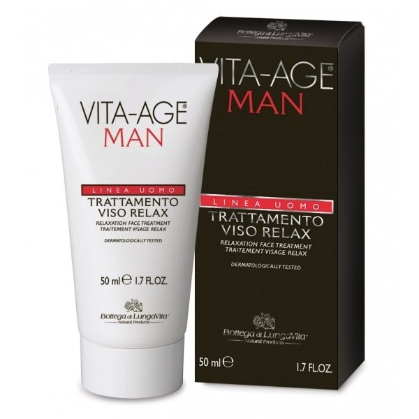 A relaxation face treatment for the specific requirements of male epidermis. It defends the face from external attacks thanks to ceramides, that have specific protective and anti-age action. Formulated with rice starch, which purifies and mattifies the skin, and with baobab oil which ensures moisturization and softness. With aloe, with soothing and anti-redness activity, that makes this treatment suitable also for the most delicate and sensitive skin